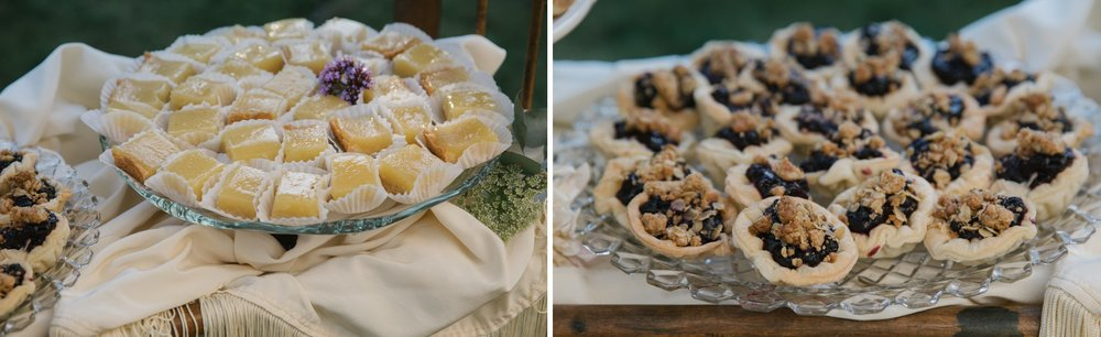 Desserts at a wedding reception