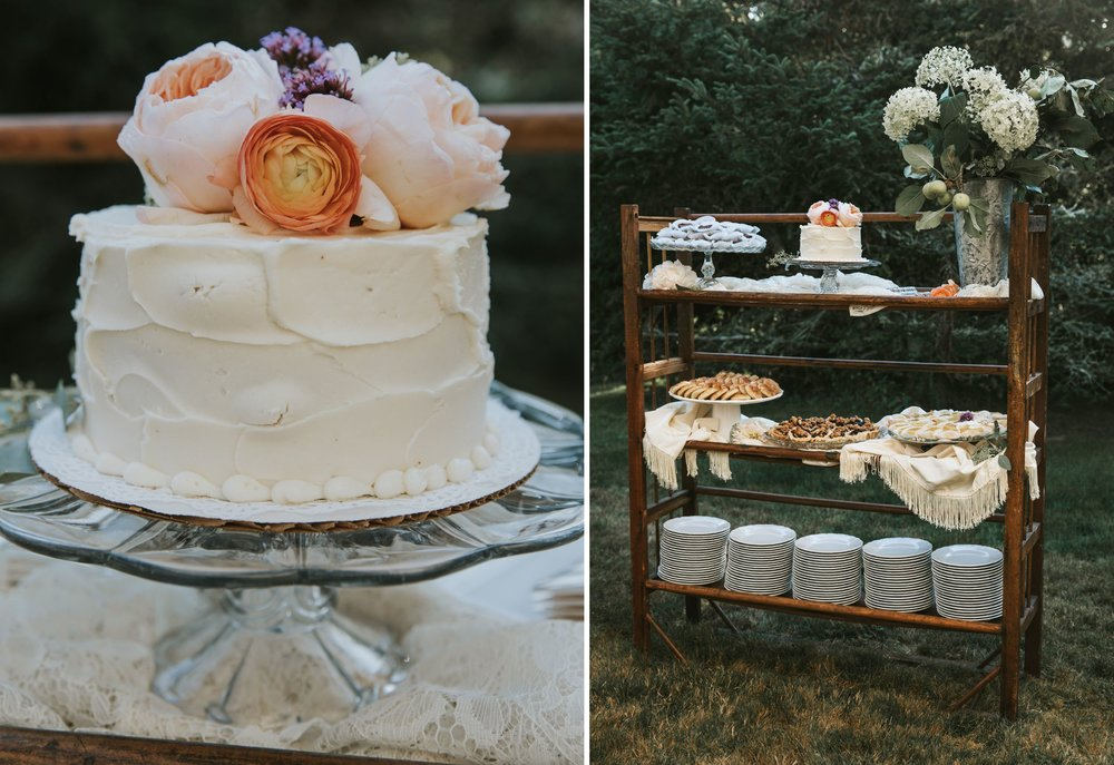 wedding cake and display