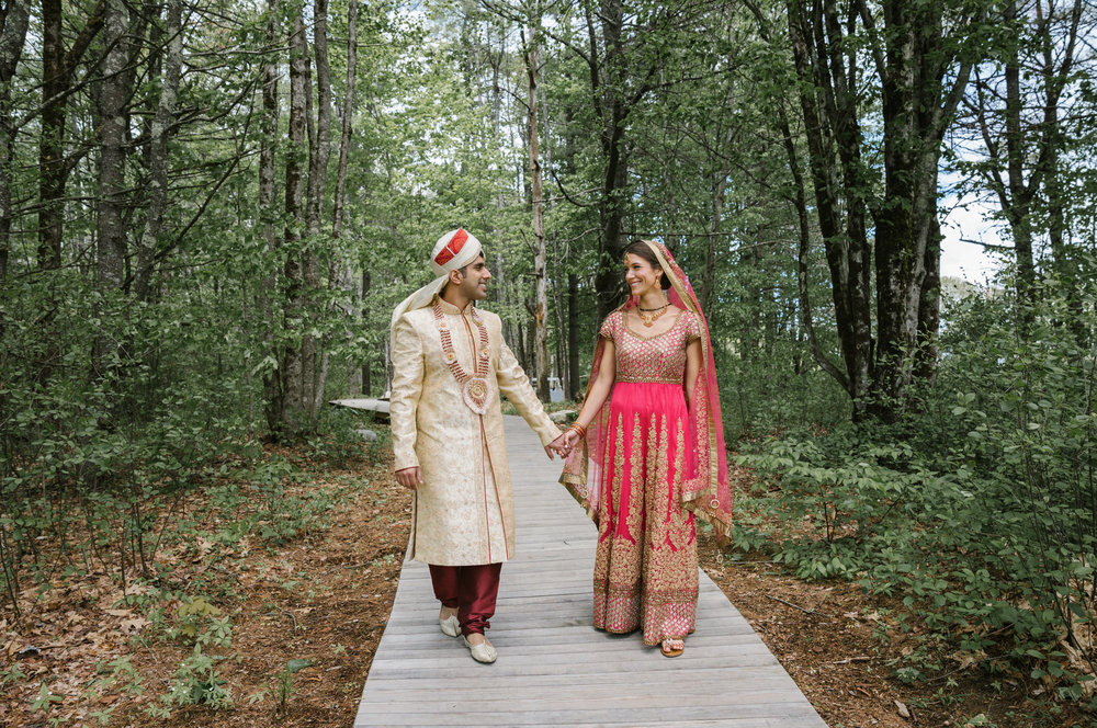 Indian fusion wedding bride and groom