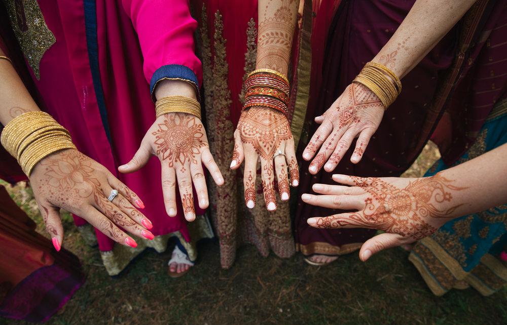 Henna Tattoos at Wedding