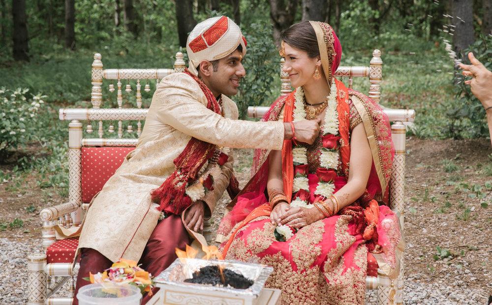 Indian wedding ceremony in Maine
