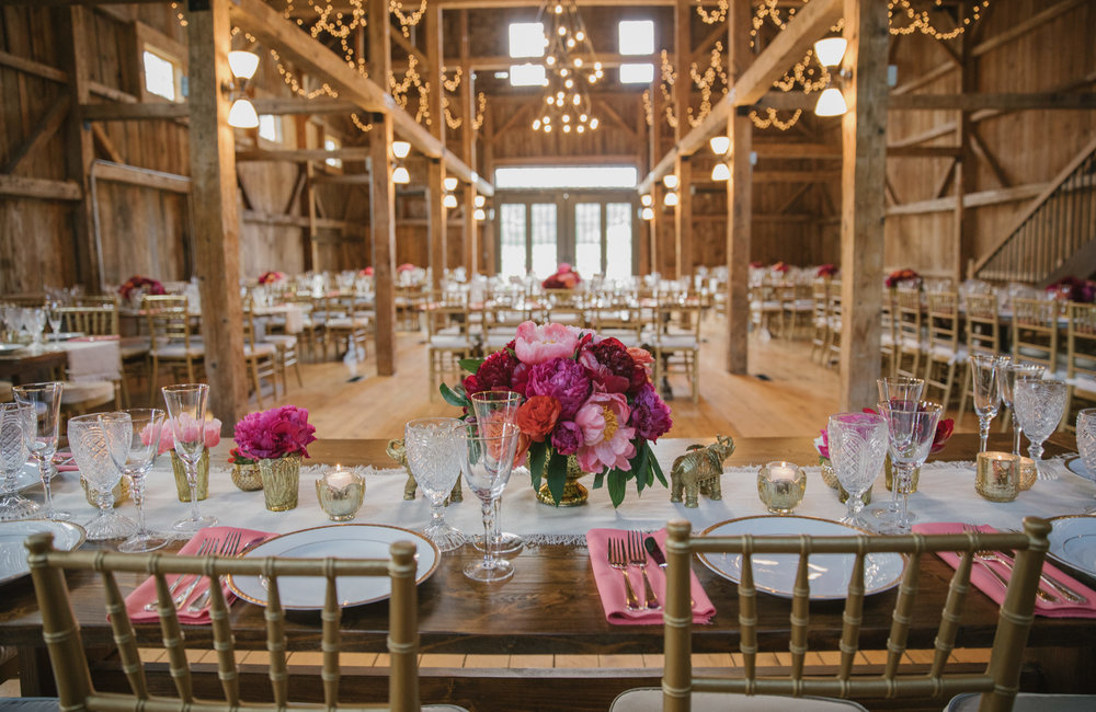 Indian wedding barn design and florals