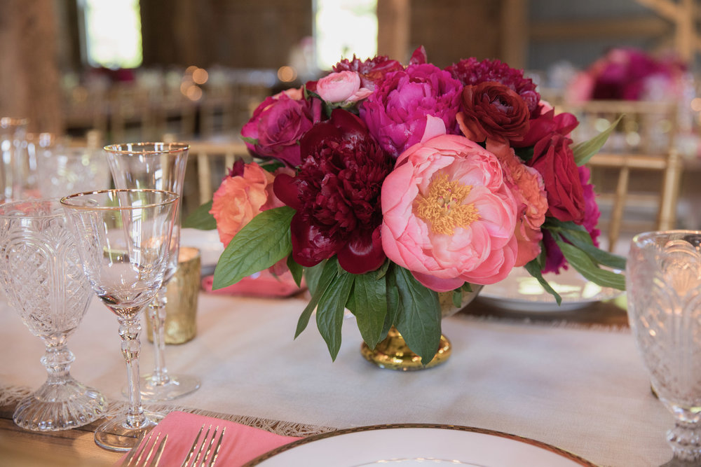 Indian wedding table florals