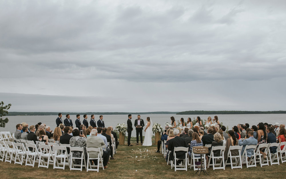 wedding ceremony at French's Point