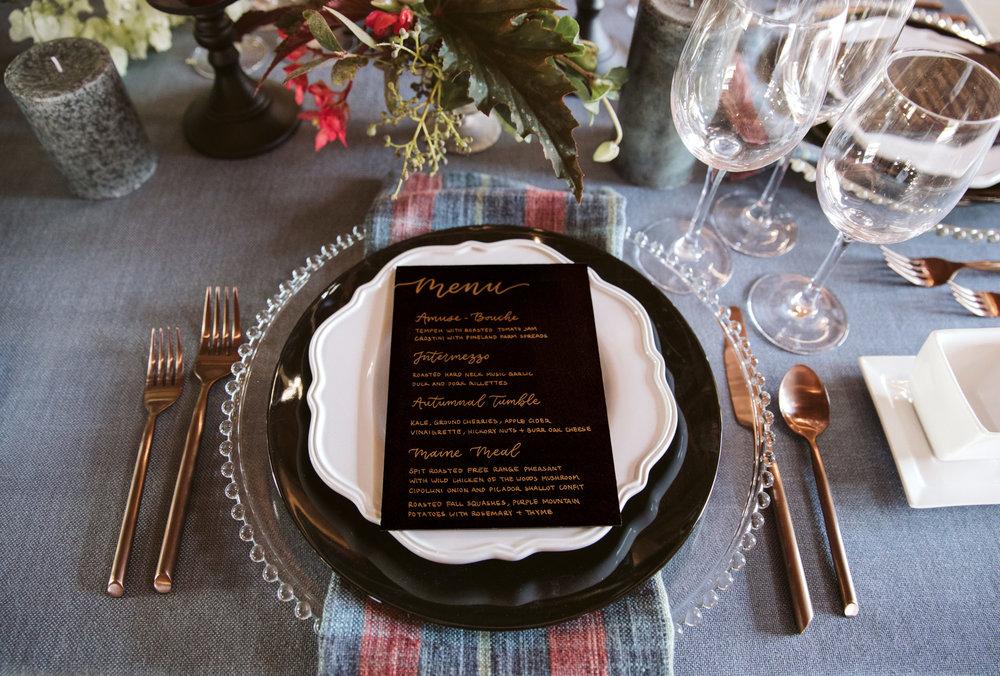 Table Setting - A family Affair Maine
