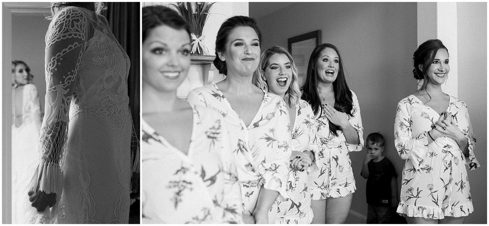 bridesmaids see dress