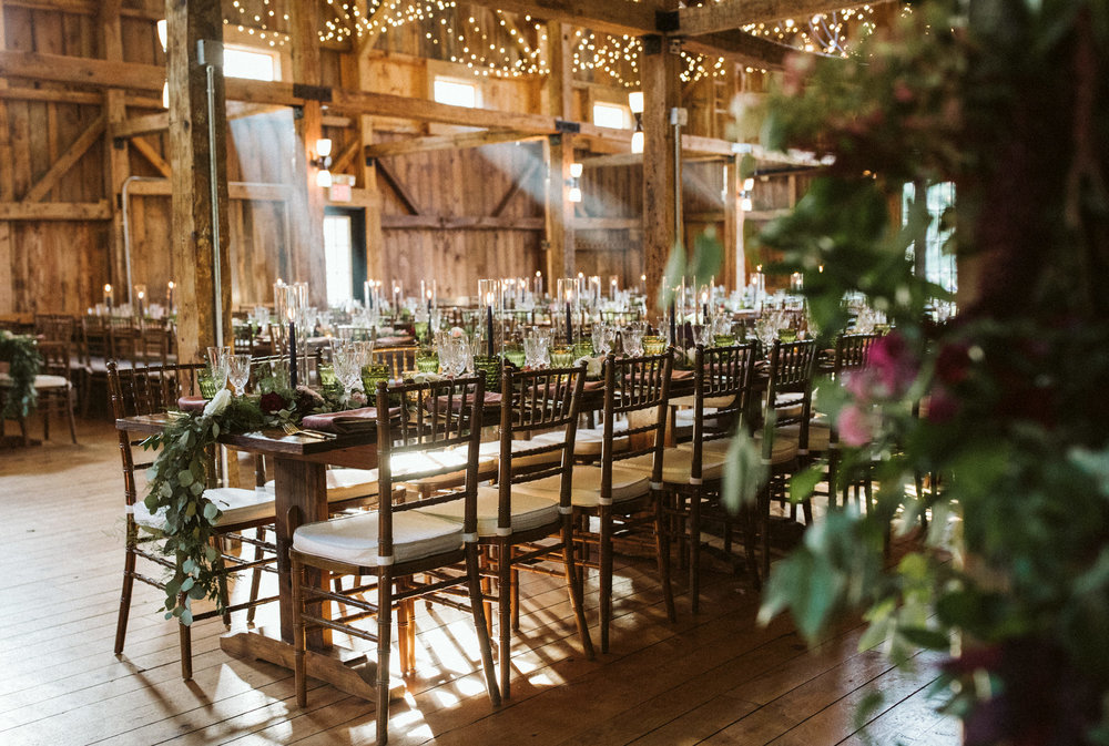 Tables in the Barn