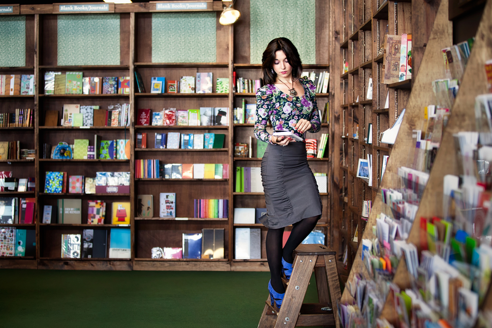 Photographer: Vidhi Thakur  Model: Talya Vylyt Location: Tattered Cover Book Store,  Denver, Colorado