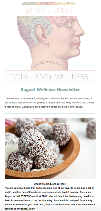 Total Body Wellness Newsletter
