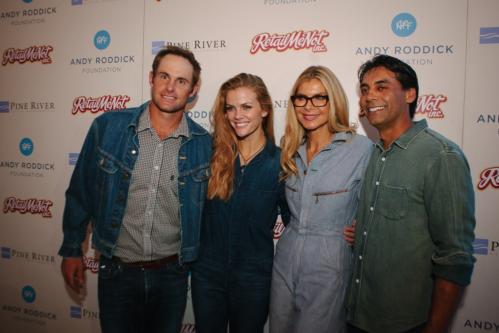 Andy Roddick, Brooklyn Decker, Whitney Casey, and Nav Sooch