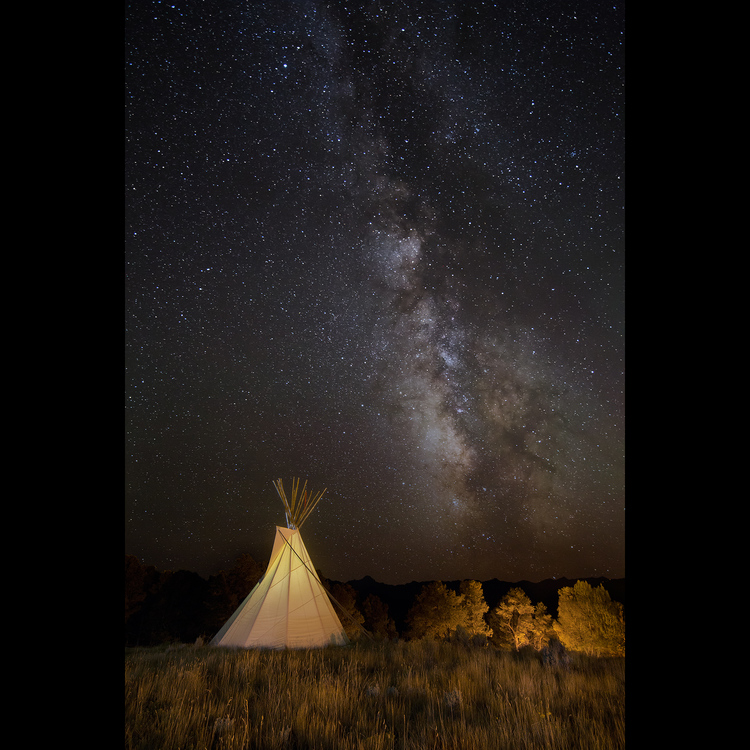 Tipi and Milky Way
