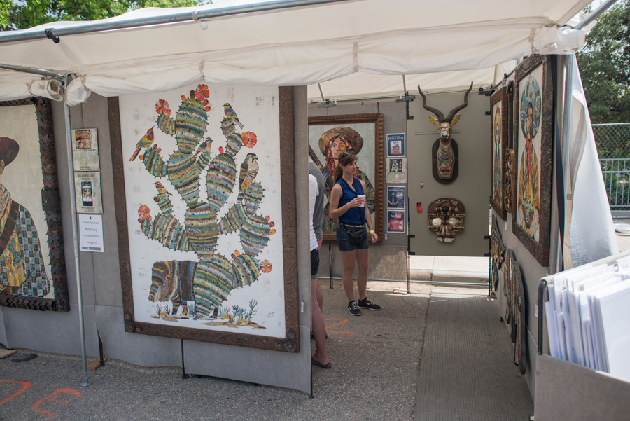 Artist Dolan Geiman's booth from Art City Austin 2015, photograph by Rich Merritt.jpg