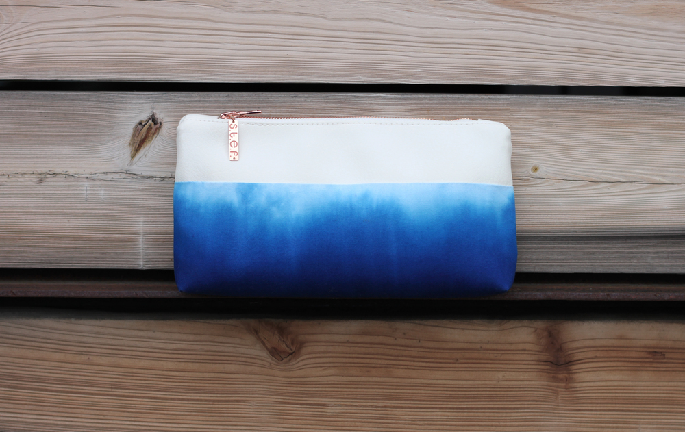 Hand-dyed, painted clutch from s.t.e.f.'s Limited Edition SS Capsule Collection