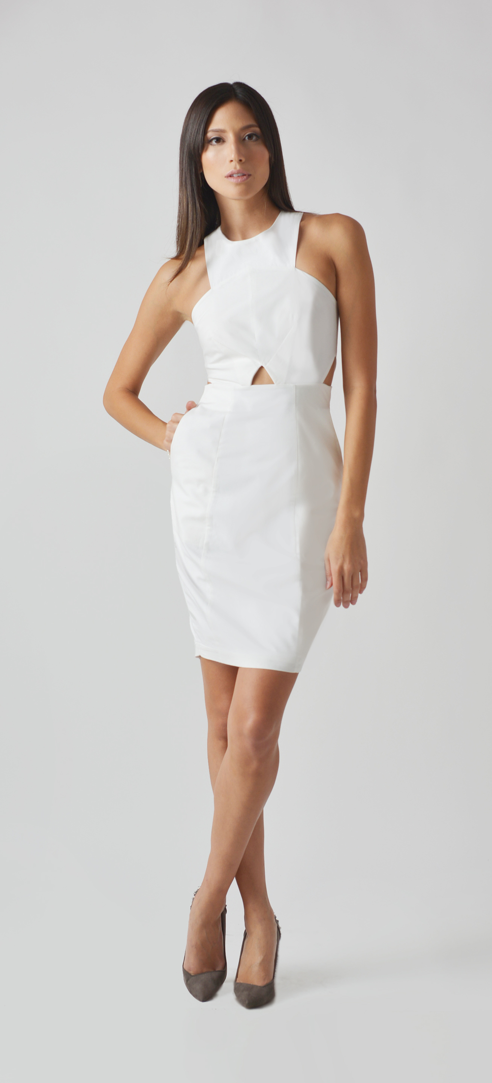Model Olivia Jordan-White Cutout Dress.jpg