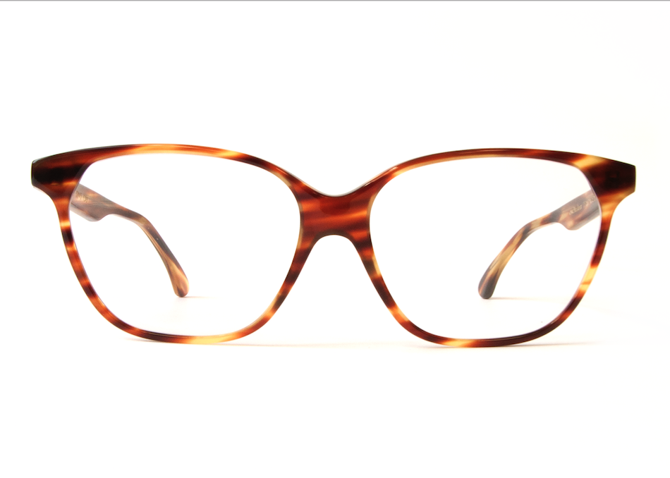 AUDREY STRIPED HAVANA CLEAR DEMO LENSES  (*)  ALL FRAMES AVAILABLE WITH DEMO LENSES FOR OPTICAL DISPLAY