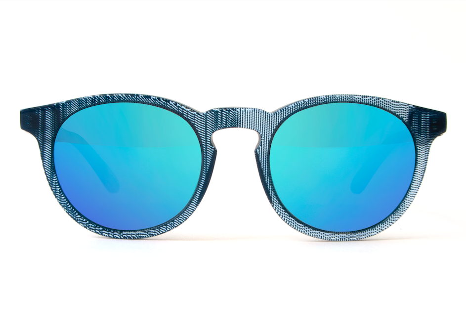 OLDMAN BLUE DENIM BLUE MIRROR LENSES
