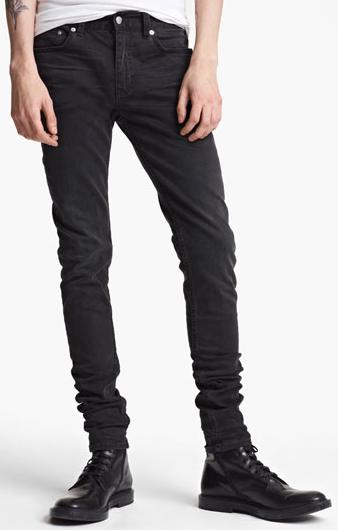 Black Slim Skinny Leg Jeans
