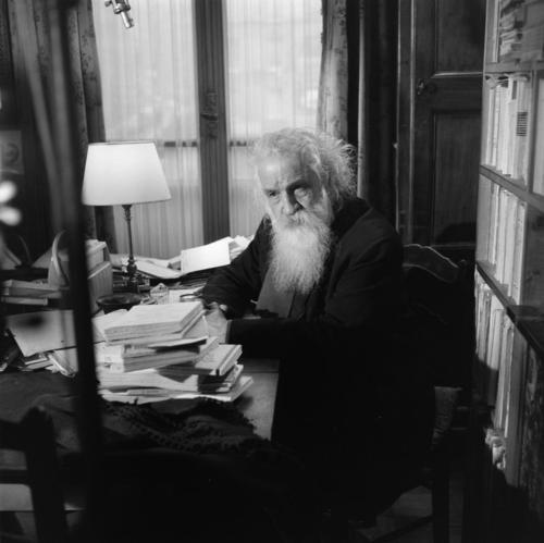Bachelard in his study, ca. 1960.
