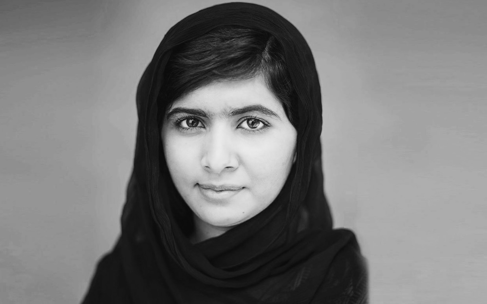Malala Yousafzai(1997 - ) She's a schoolgirl from Pakistan who survived being shot by the Taliban for going to school. Now she's a global advocate for women's rights and especially the right for girls to get an education.