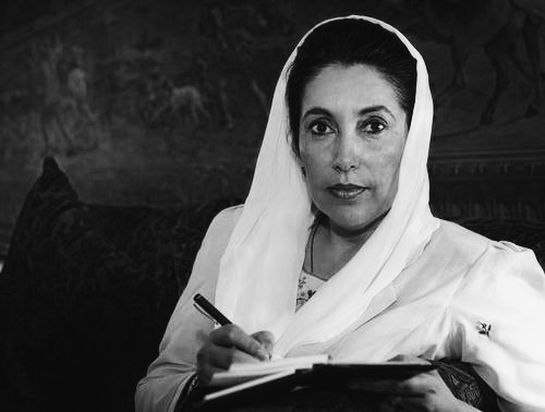 Benazir Bhutto (1953-2007) She was the first female prime minister of a Muslim country. She helped move Pakistan from a dictatorship to a democracy when she was elected. She was assassinated in 2007.