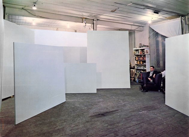 Yves Gaucher in his studio, 1968
