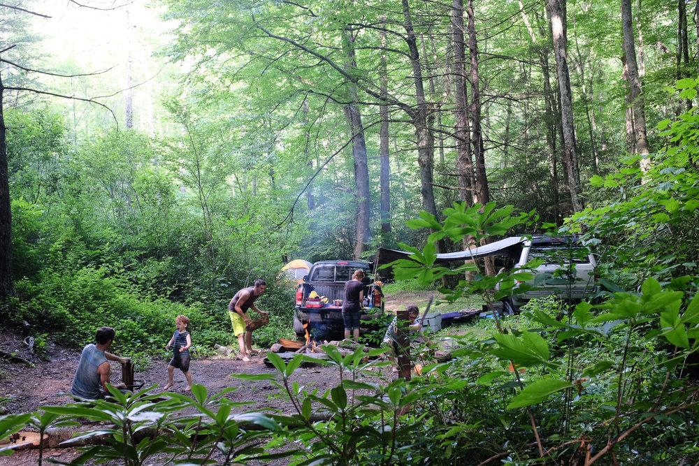 No Shirt, No Shoes, No Service | Camping at Gragg Prong