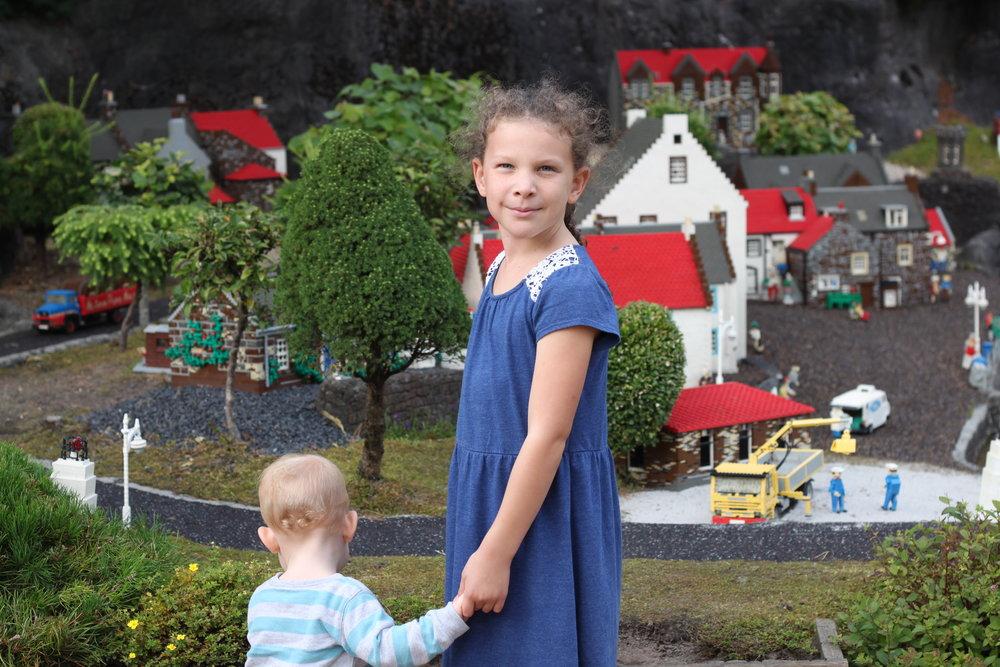 Natasha and Lincoln at Legoland, in Denmark.