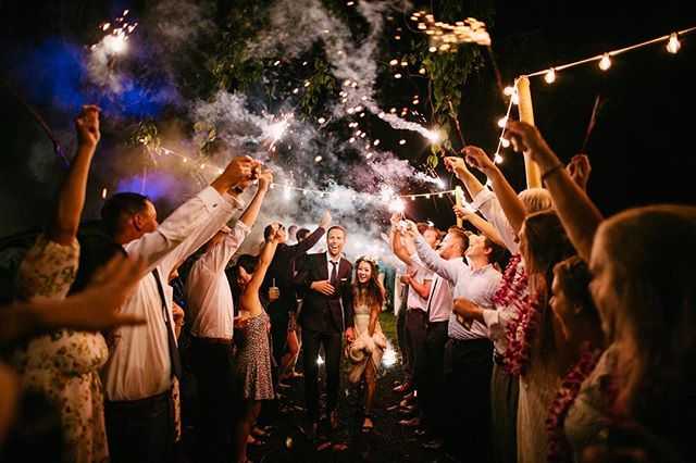 #sorrynotsorry for over sharing photos from this wedding! If you're on the fence about whether to do a sparkler exit or skip it - DON'T SKIP IT! It takes a little bit of work to organize the chaos, but so worth!  #seattlewedding #seattleweddings #seattleweddingphotographer #pnwweddings #pnwweddings #pnwweddingphotographer #weddingdress #kauai #kauaiweddings #kauaiweddings #kauaiweddingphotographer #hawaiiweddingphotographer #hawaiiwedding #goldenhour #weddingphotogmag #sparklers #sparkler #sparklerexit #sparklersendoff