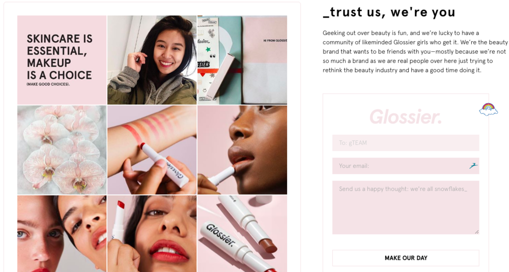 glossier transparency online marketing strategy