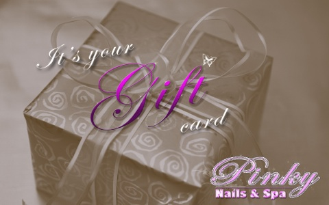 Our gift cards are perfect for any occasion and can be redeemed for any of our nails and spa services. Gift cards are available in any amount.