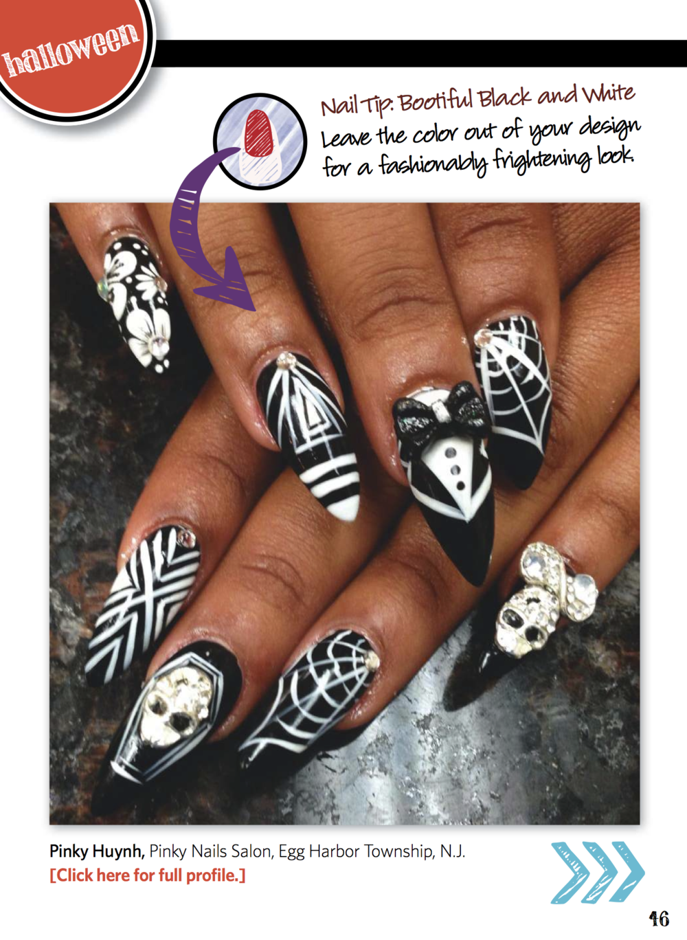 Nail Art Gallery Magazine, October 2014, page 46