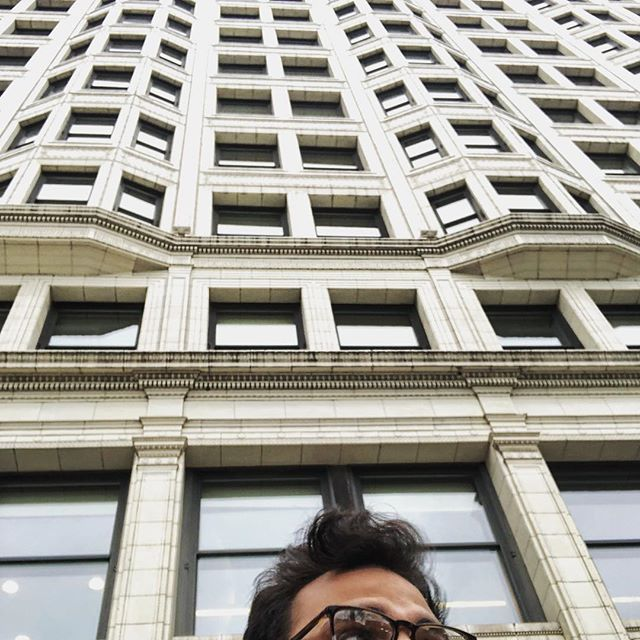 U guys, don't pay attention to my receding hair line, focus on the building.