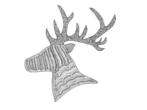 Deer - ink on paper