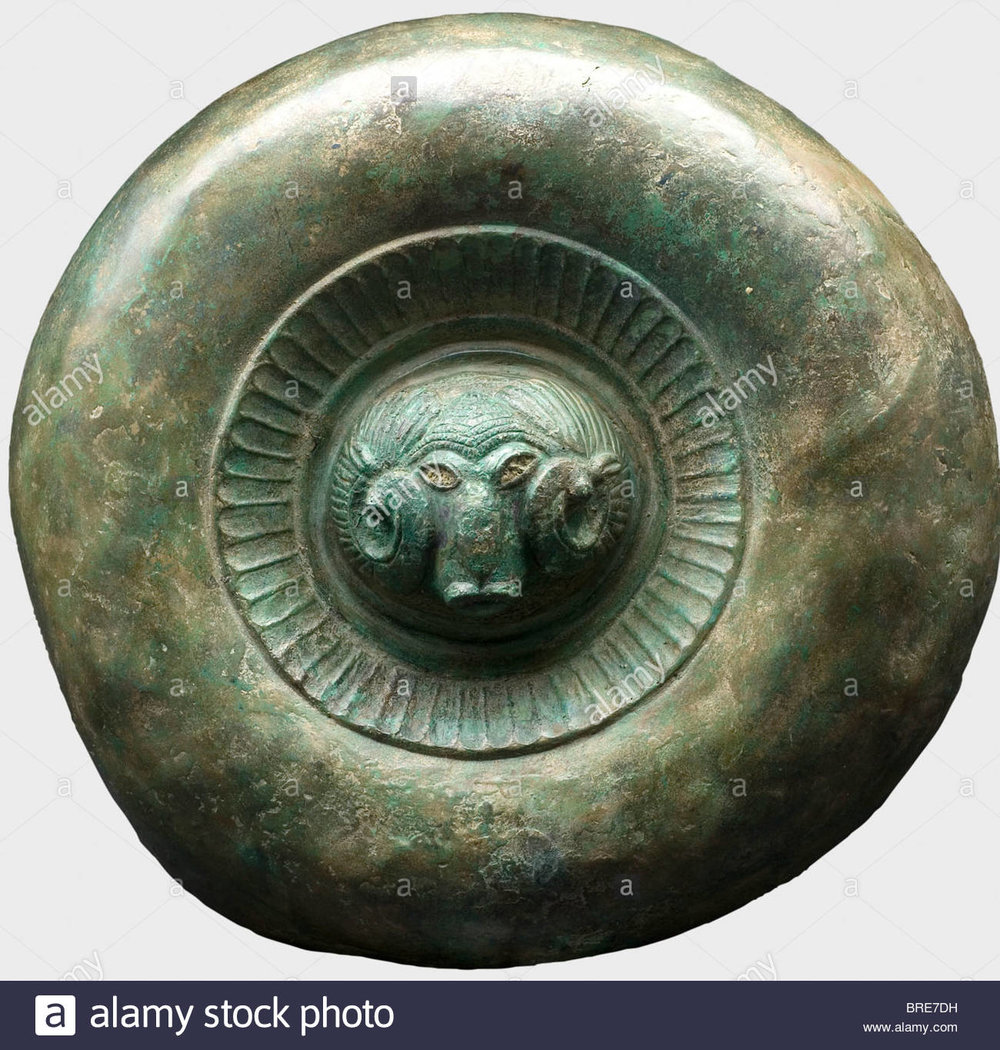 a-decorative-etruscan-shield-circa-500-bc-bronze-the-separately-made-BRE7DH.jpg