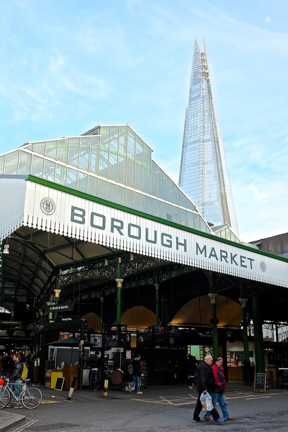 The Shard can be seen from Borough market