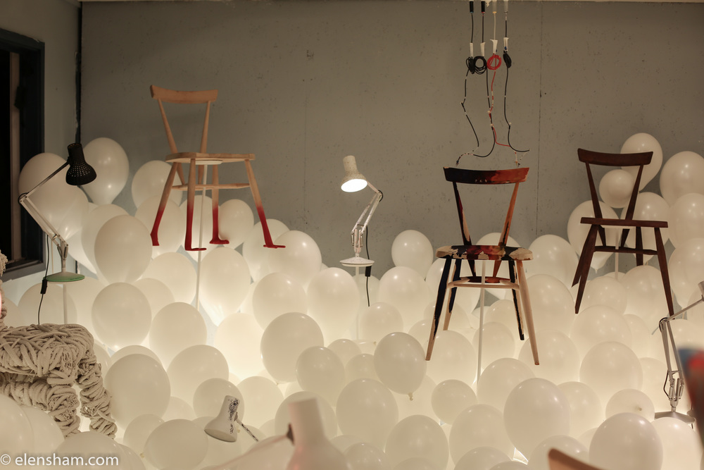This installation is the work of nineteen UK designers for 'A Child's Dream' charity exhibition.