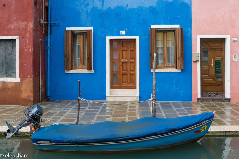 How about colour of your boat matching colour of your home?