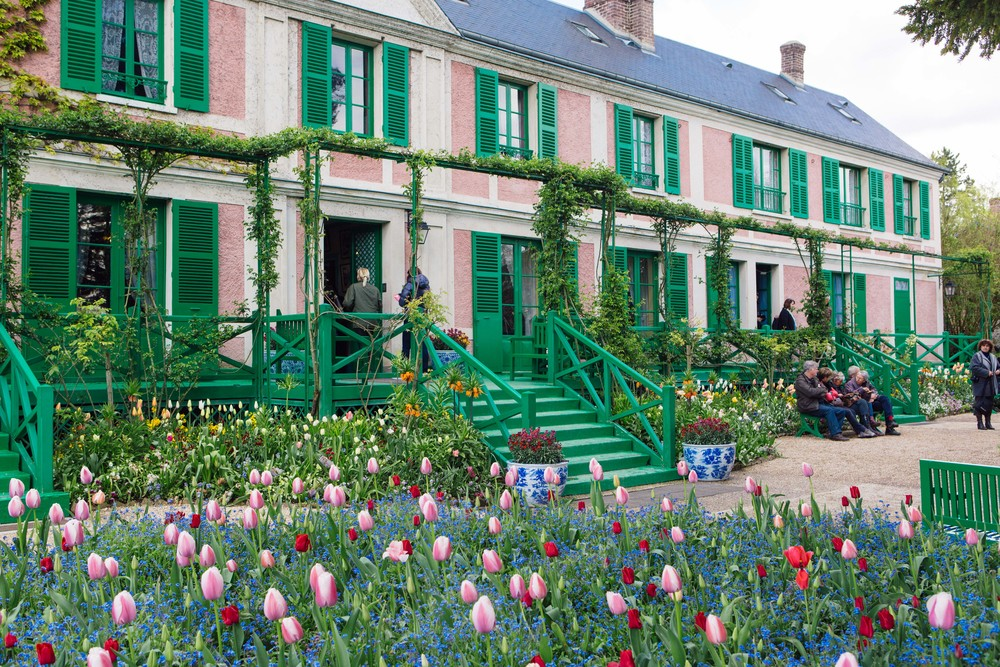 Monet Himself Has Chosen All The Colours For The House And Plants For The  Garden. He Has Decided To Paint The Walls Pink And The Shutters Green.