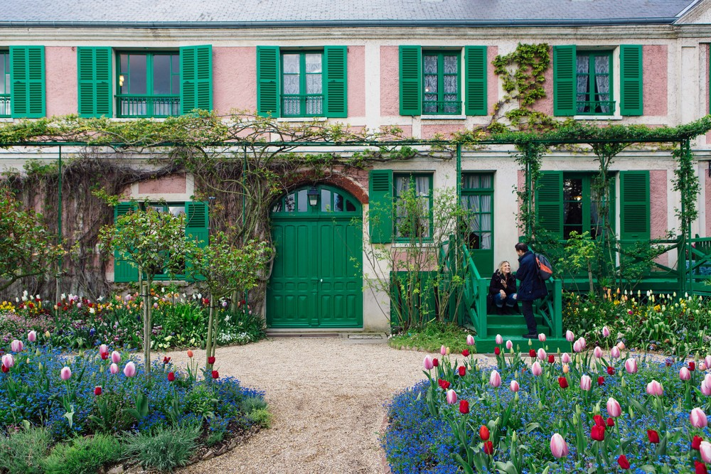 The Gardens Are Divided Into Two Different Parts: A Flower Garden Called  Clos Normand In Front Of The House And A Japanese Inspired Water Garden On  The ...
