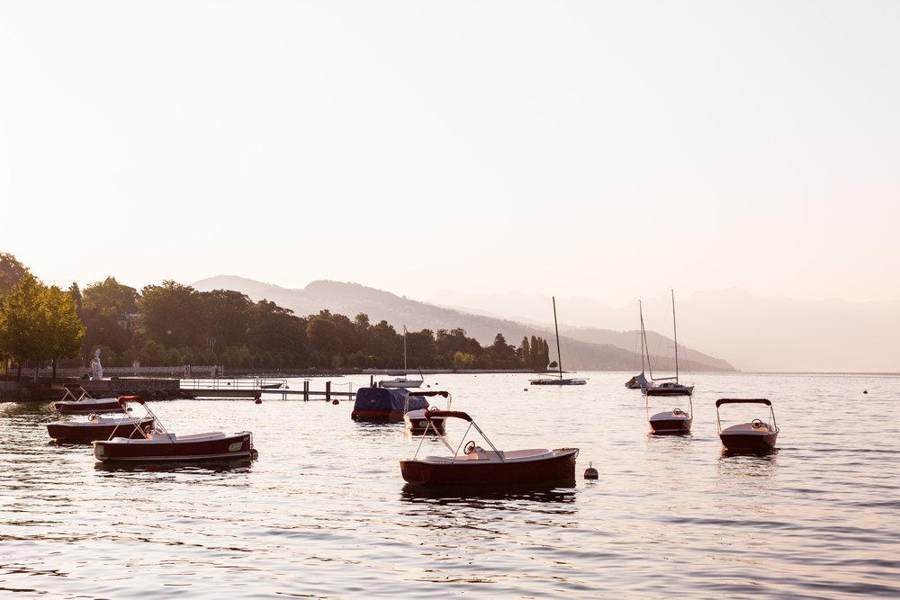 Lausanne lake Leman