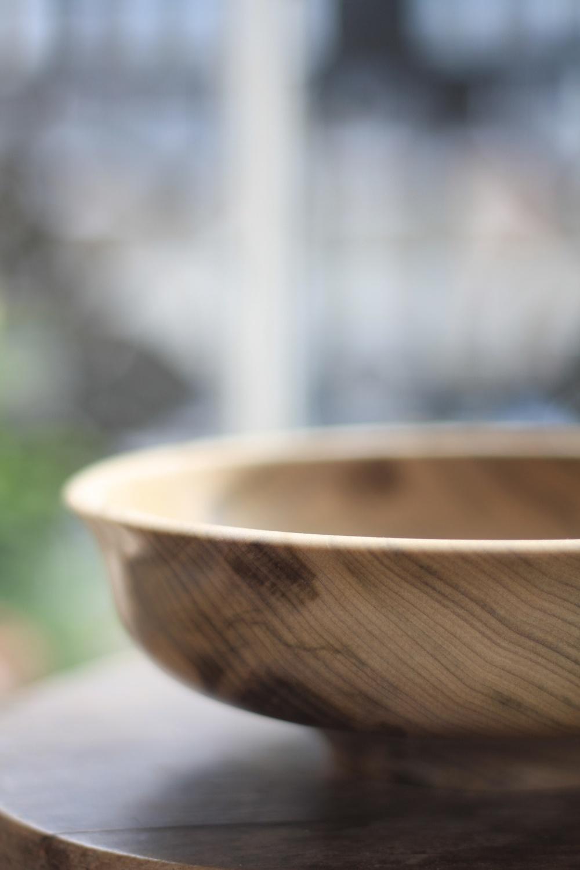 Tulip turned bowl