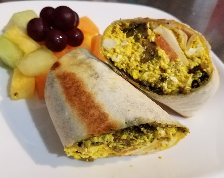 Tofu scramble wrap