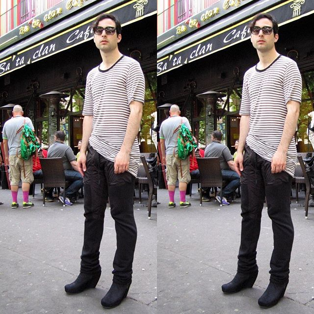 Almost a decade ago in Paris in my cherished #RickOwens medges at the Bataclan. #tbt