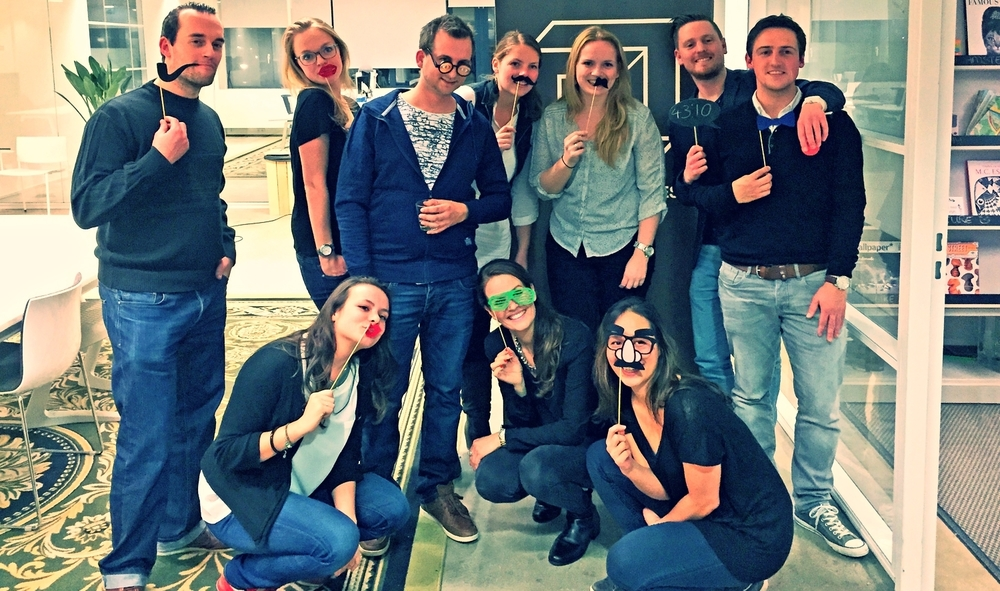 The team of ConversionMob,   , a leading Dutch digital data agency, after a Room of Riddles experience