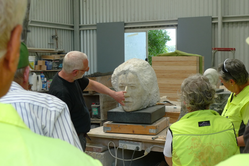 Visitors at Clive Murray-White Australian Marble Studio Cowwarr Art Space