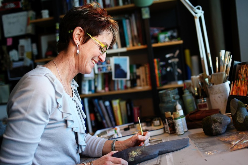 Brave Shading Art Director Tia Kratter is photographed working in her office on February 16, 2012 at Pixar Animation Studios in Emeryville, Calif. (Photo by Deborah Coleman / Pixar. Al rights reserved.)