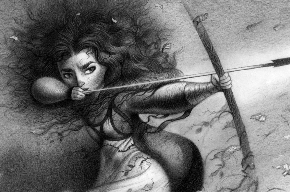 BRAVE Merida concept art by Production Designer Steve Pilcher. All rights reserved.
