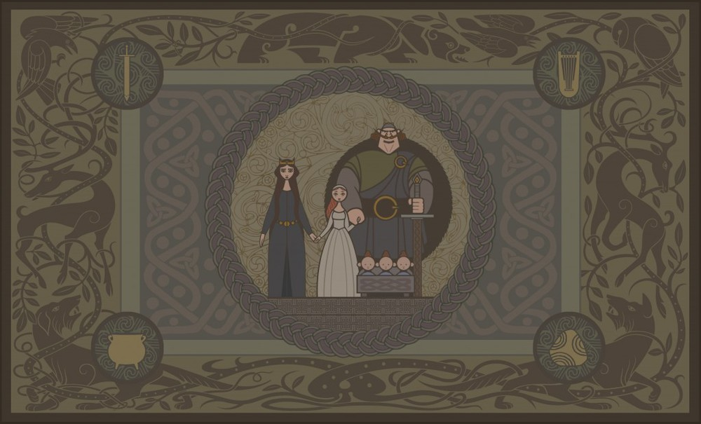 BRAVE Tapestry concept art by Production Designer Steve Pilcher. All rights reserved.