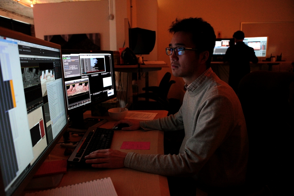 Israel Yang, a lighting technical artist at Pixar Canada, as seen on October 12, 2011 in Vancouver, British Columbia, Canada and will provide animation to support Pixar Animation Studios franchises such as Toy Story and Cars. (Photo by Deborah Coleman / Pixar). Used with permission. All rights reserved.