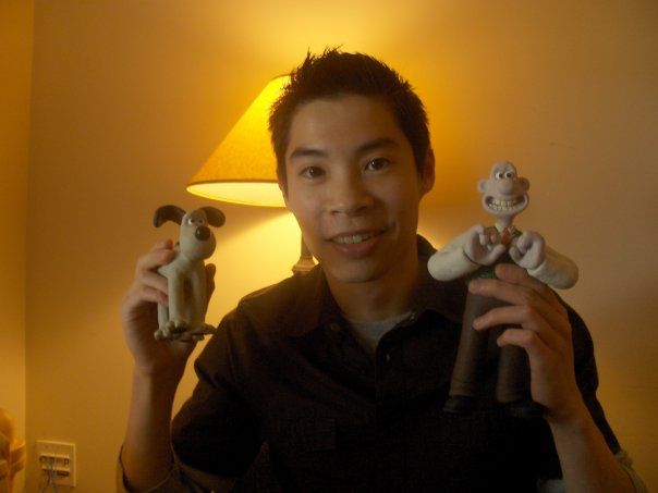 Chris during his days at Dreamworks working on films like Flushed Away. Photo courtesy Chris Chua.